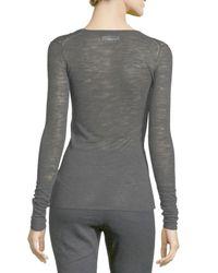 Étoile Isabel Marant - Black Debra Long-sleeve Heathered Top - Lyst