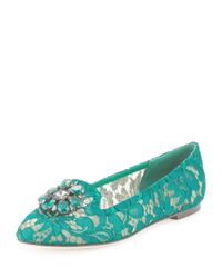 Dolce & Gabbana Green Loafers