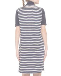Akris Punto Black Short-sleeve Shirtdress W/striped Back