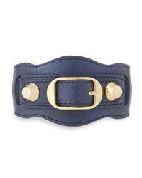Balenciaga | Gray Classic Leather Single-strap Bracelet | Lyst