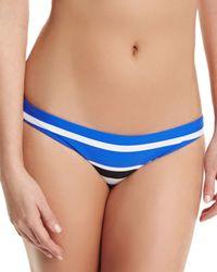 Seafolly | Black Seafolly Ruched Skirted Frill Bikini Brief | Lyst