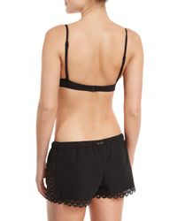 Seafolly - Black Seafolly Ruched Skirted Frill Bikini Brief - Lyst