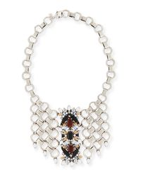DANNIJO   Metallic Alessio Crystal Circle-link Bib Necklace   Lyst