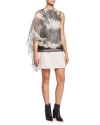 Halston | Black Tulip-shaped Crepe Skirt | Lyst