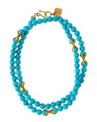 Ashley Pittman | Blue Roho Turquoise Necklace | Lyst