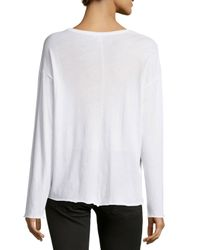 Vince - White Long-sleeve Cotton Tee - Lyst