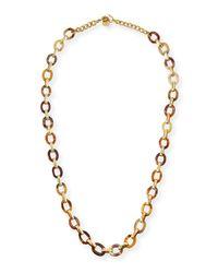 Ashley Pittman | Metallic Shamba Light Horn Link Necklace | Lyst