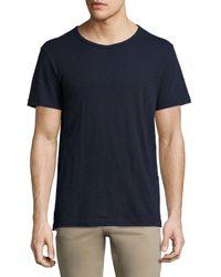 Vince | Blue Slub Short-sleeve Crewneck T-shirt for Men | Lyst