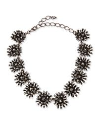 Oscar de la Renta | Black Crystal Firework Station Necklace | Lyst
