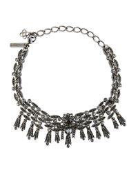 Oscar de la Renta | Metallic Tulip Crystal Choker Necklace | Lyst