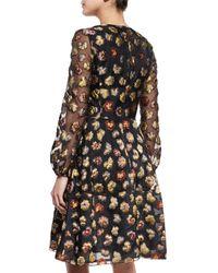 Co. - Black Floral Brocade Dress - Lyst