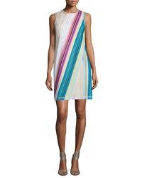 Missoni - Multicolor Sleeveless Striped Faux-wrap Dress - Lyst