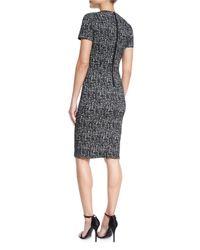 Burberry - Black Shift Dress W/french Darts - Lyst
