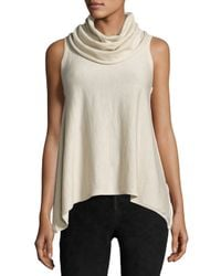 Alice + Olivia - Natural Sharry Sleeveless Turtleneck Pullover - Lyst