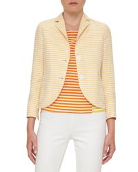 Akris Punto | Natural Striped Two-button Blazer | Lyst