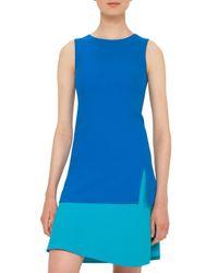 Akris Punto | Blue Colorblock Sleeveless Shift Dress | Lyst