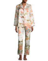 Natori - Multicolor Yuzen Printed Two-piece Pajama Set - Lyst