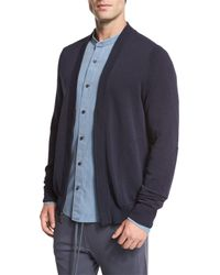 Vince | Blue Zip-front Cardigan for Men | Lyst