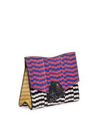 Proenza Schouler Black New Small Mixed-print Snakeskin Clutch Bag