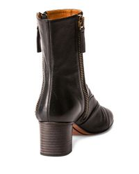 Chloé Black Side-zip Leather 50mm Ankle Boot
