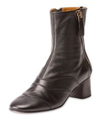 Chloé | Black Side-zip Leather 50mm Ankle Boot | Lyst