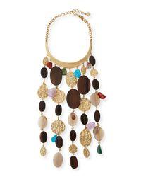Oscar de la Renta | Multicolor Mixed-bead Statement Collar Necklace | Lyst