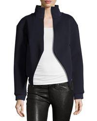 Balenciaga | Blue Asymmetric Zip-front Jacket | Lyst