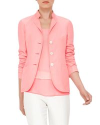 Akris | Pink Ingwer Three-button Jacket | Lyst