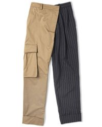 Monse | Multicolor Pinstriped Cargo Combo Pants | Lyst