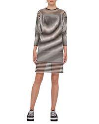 Akris Punto   Black Striped 3/4-sleeve Shift Dress   Lyst