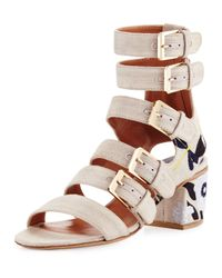 Laurence Dacade | Natural Nora Embroidered Buckle-strap Sandal | Lyst