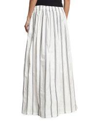 Brunello Cucinelli - White Crinkle Cotton Micro Paillette Pants - Lyst
