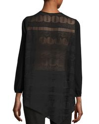 Joie Black Tambrel Lace-back Asymmetric Sweater