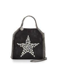 7fa96efa50 Lyst - Stella McCartney Falabella Tiny Star Shoulder Bag in Black