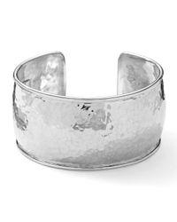 Ippolita | Metallic Sterling Silver Hammered Cuff Bracelet | Lyst