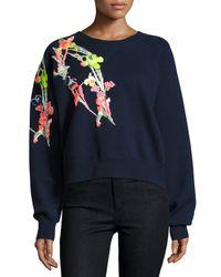 Jason Wu   Blue Holiday Floral Wool Sweatshirt   Lyst