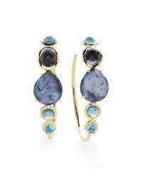 Ippolita | Multicolor 18k Rock Candy Gelato #3 Hoop Earrings In Midnight Rain | Lyst