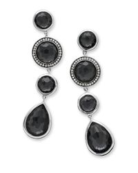 Ippolita - Black 925 Lollipop Mixed Stone Drop Earrings In Quartz/hematite With Diamonds - Lyst