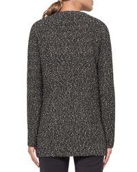 Akris | Multicolor Cotton Tweed Long-sleeve Cardigan | Lyst