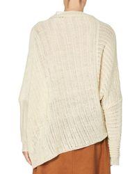 Stella McCartney - White Asymmetric Open-weave Sweater - Lyst