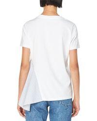 Stella McCartney | White Asymmetric Combo T-shirt | Lyst