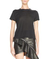 Saint Laurent   Black Short-sleeve Jersey Tee   Lyst