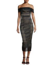 Rachel Gilbert | Black Stretch-bandage Midi Dress | Lyst