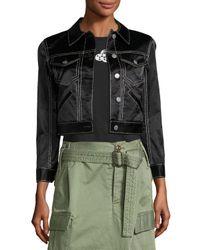 Marc Jacobs | Black Classic Sateen Jean Jacket | Lyst