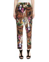 Etro | Black Jungle-print Pull-on Pants | Lyst