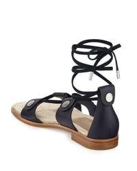 Rag & Bone - Blue Evelyn Lace-up Leather Sandal - Lyst