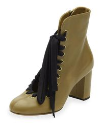 Chloé | Black Lace-up Leather Ankle Boot | Lyst