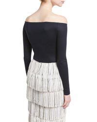 Gabriela Hearst - Blue Hobbs Off-shoulder Bodysuit - Lyst