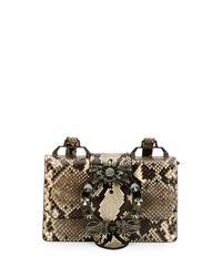 Miu Miu | Multicolor Lady Python Box Bag | Lyst