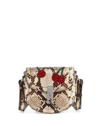Altuzarra | Multicolor Ghianda Mini Python Saddle Bag With Sequined Cherries | Lyst